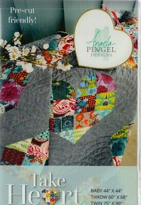 Take Heart - lovely and easy pieced quilt PATTERN - Angela Pingel Designs