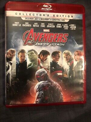 AVENGERS Age of Ultron COLLECTORS Edition BLU-RAY + BLU-RAY 3D