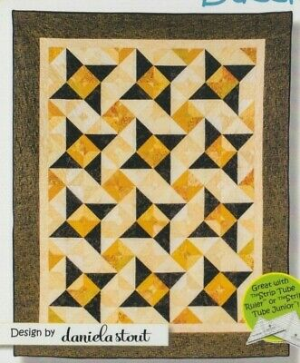 """Dazzle - pieced quilt PATTERN for 2.5"""" strips - Cozy Quilts pattern"""
