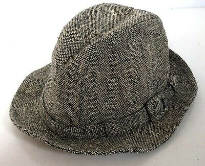 Vintage Stetson Tweed Fedora Walking Hat Cap Trilby