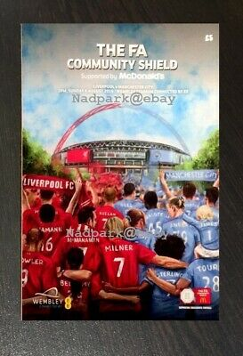 Liverpool v Manchester City (Man City) FA Community Shield August 2019 04/08/19