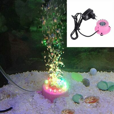 Aquarium Mini Submersible Light Decoration Fish Tank Accessories Air Bubble Pump