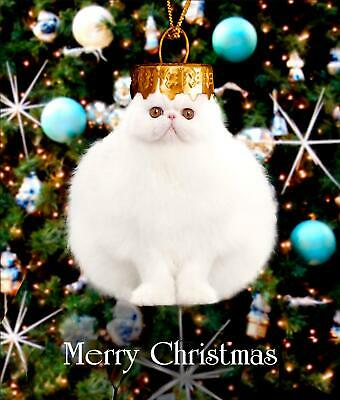 Cat Bauble Funny Cats Glitter Greeting Card Christmas Cards Humorous Greetings