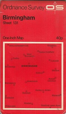 Ordnance Survey One Inch Seventh Series Map No 131 Birmingham