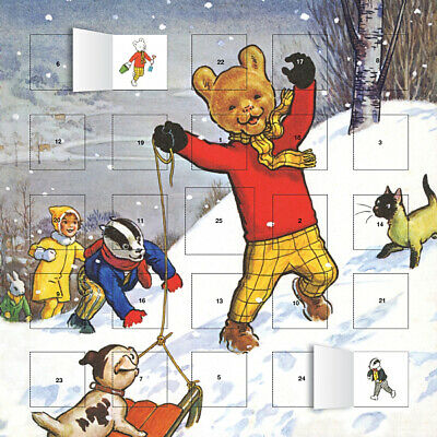 Classic Rupert the Bear Advent Calendar (With Stickers)