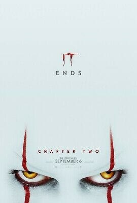It Chapter 2 Horror Stephen King Movie Poster Film A4 A3 A2 A1 Art Print Cinema