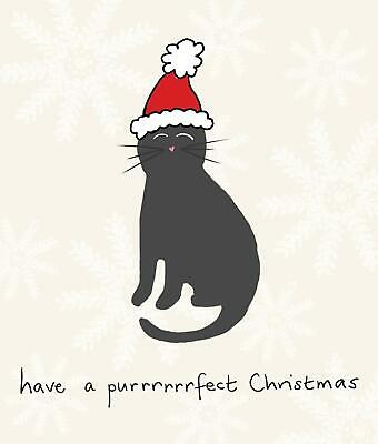 Purrrrfect Christmas Funny Cat Greeting Card Christmas Cards Humorous Greetings