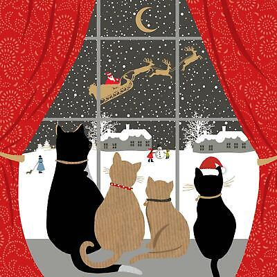 Festive Felines Funny Cat Greeting Card Christmas Cards Humorous Greetings Blank