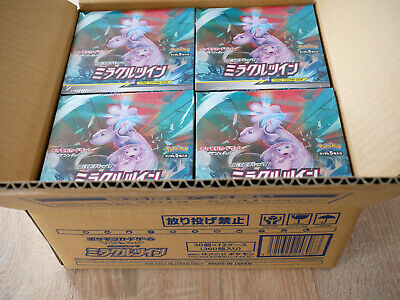 Pre-Order Pokemon Booster Box Japanese Sun Moon Sm11 Miracle Twin Display Mewtwo