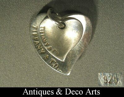 Vintage Tiffany & Co Double-Hart Sterling Silver Pendant