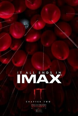 It Chapter 2 Imax Balloons Movie Poster Film A4 A3 A2 A1 Print Cinema