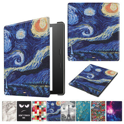 "Pattern Leather Folding Smart Case For Amazon Kindle Oasis 7"" Inch 10th Gen 2019"