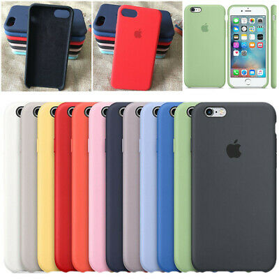 Silicone Cover for Apple iPhone X 7 8 Plus 6 6S 5S SE Original Silicone OEM Case