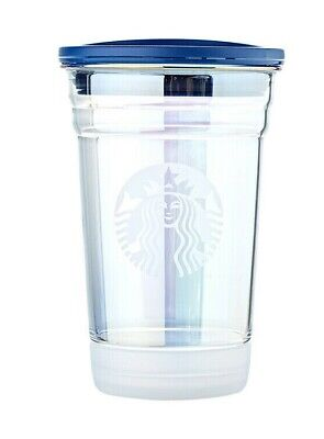 Ltd Starbucks Korea 2019 TODD Summer 3 Holographic Rainbow Glass To Go Cup 355ml