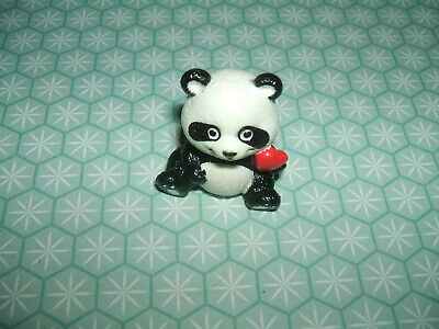 Rare Vintage 1980s RUSS Cute Panda with Heart eraser rubber gomme gommine