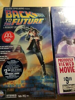 Back To The Future 1 and 2 VHS. New and Previewed Both Sealed See Comments