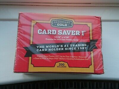 Cardboard Gold - 200 Card Saver 1 Semi Rigid Card Holders - PSA Recommended