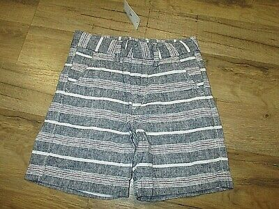 NWT babyGap Boys Size 4 Years Linen Blend gray pink white Shorts