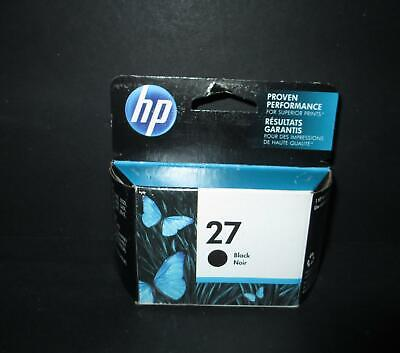 HP original 27 BLACK INK CARTRIDGE New in Box Hewlett Packard EXP JAN 2020