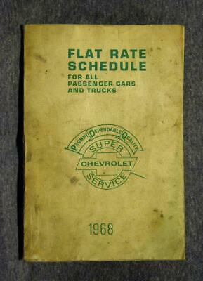 1968 Chevrolet Flat Rate Schedule For Old Passenger Cars & Trucks