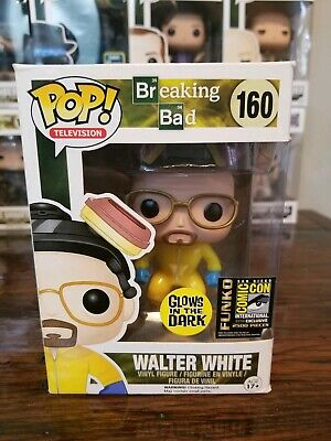 Funko Pop Breaking Bad #160 Walter White 2014 SDCC Exclusive Glow-in-the-dark