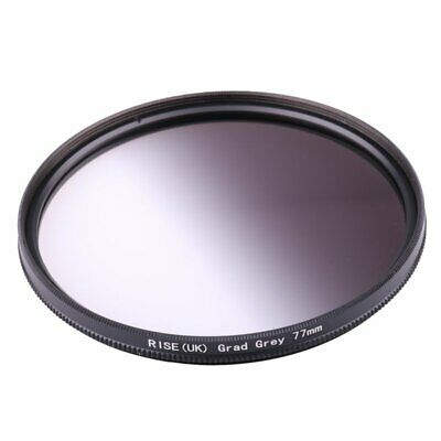 77MM 77MM Graduated Grey Graduated Neutral Density ND4 Filter Round Screw Mount