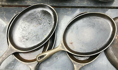 Cast Iron Skillet Oval Hot Plate Pan 15x7 frying fry fajita steak sizzler server