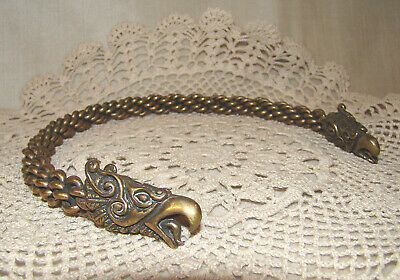 Stunning Heavy Braided Bronze Torc Necklace Griffins Celtic Pagan Duality
