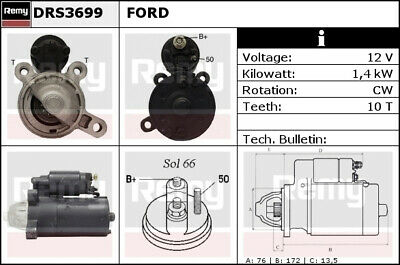 Starter Motor BST2050 Borg /& Beck 2010001005 96BB11000AA 96BB11000AB Quality New