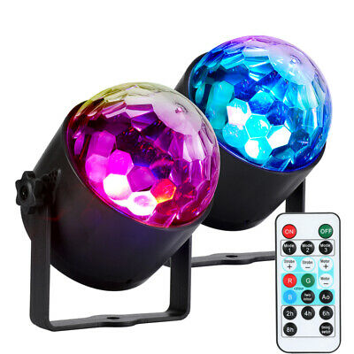 Party Disco Lights Strobe LED Rotating DJ Ball Sound Activated Bulb Lamp -3 Mode
