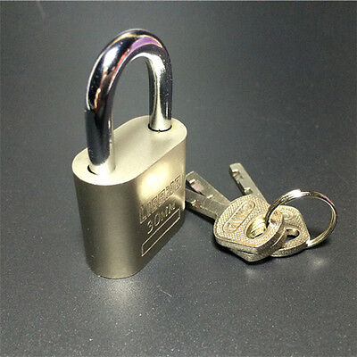 Cabinet Luggage Security Metal Lock Padlock Gold Silver Tone with 3 Keys