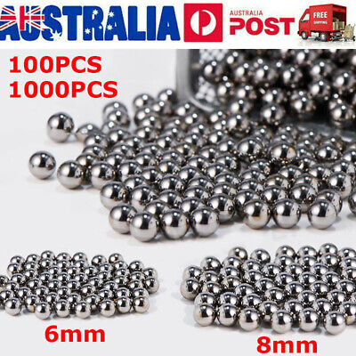 100/1000PCS 6mm 8mm Steel Ball Bicycle Bike Steel Ball Bearing Replacement Part