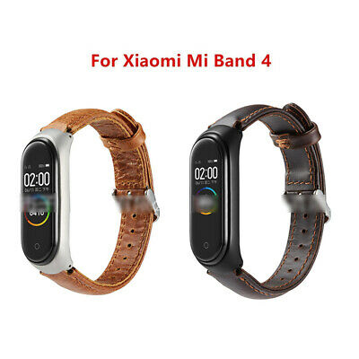 For Xiaomi Mi Band 4 / 3 Leather Quick Release Wrist Watchbands Bracelet Strap