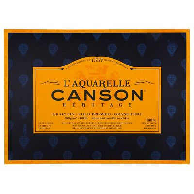 Canson Heritage Watercolour Paper Block 300gsm 46x61cm 20 Sheets Col