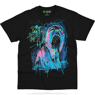 Pink Floyd The Wall Blacklight Glow Official Black T-Shirt