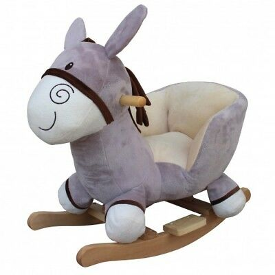 Cuddles Collection Sit on Rocking Animal - Grey Donkey - Suitable for 12 Months+