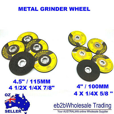 "4"" 100MM 4.5"" 115mm GRINDER DISC WHEEL STEEL METAL ANGLE  FLAP  CUTTING CUT OFF"