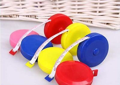 5x Retractable Tape Measure Sewing Tailor Dieting Tapeline Ruler Tiny ~GN