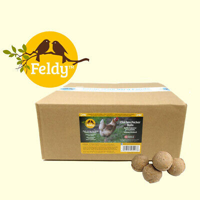 Box of 40 Feldy Chicken Pecker Balls High Energy - Hen - Food - Feed
