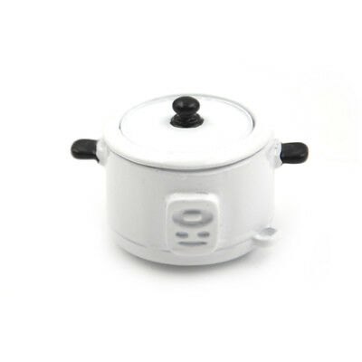1:12 Dollhouse Miniature Metal Rice Cooker Model Kitchen Scene Props Play Toy SL
