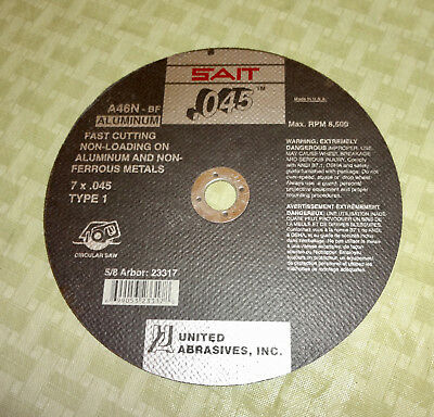 "Sait 7"" x 1/16"" Non-Loading Cut-off Wheel for Aluminum and  Non-Ferrous Metals"