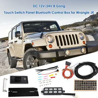 Touch DC Switch Panel Bluetooth Circuit Control Box for Jeep Wrangler JK 2007-