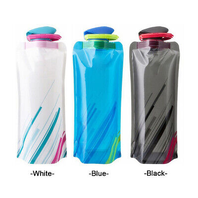 700ML Folding Portable Sports Drink Water Bottle Kettle Travel Camping Water Bag
