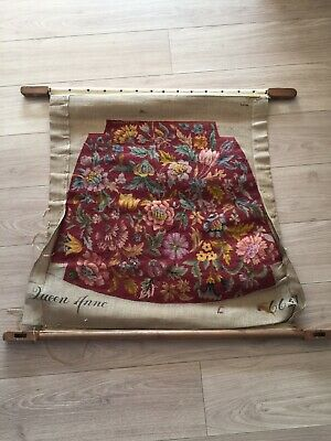 Old tapestry Queen Anne Chair Seat