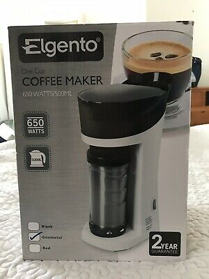 ELGENTO One Cup Coffee Maker 500ml Ideal Car / Commuter