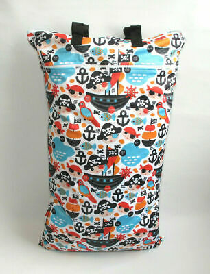 Extra Large XL Wet Bag - Baby Nappy Pail for Reusable Nappies & Pads - Pirates