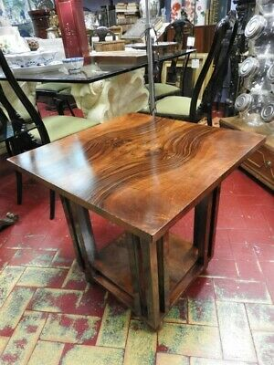 Wonderful Antique Small Table Art Deco' in Briar Walnut Years 20 30 Different