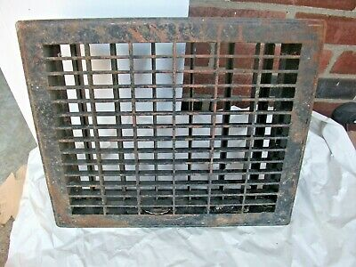Heat Air Grate Wall Register 12x14 approx. OA   9 x 12 wall opening RECT. HOLE
