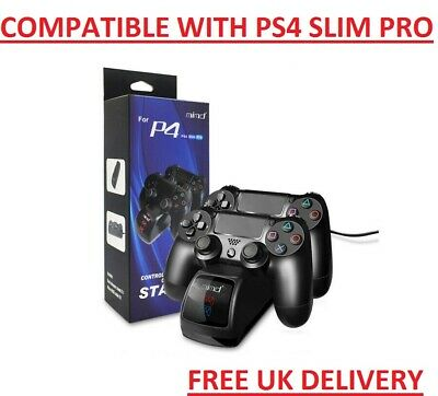For PS4 Wireless Controller Dual Charger Dock Station USB Fast Charging Stand