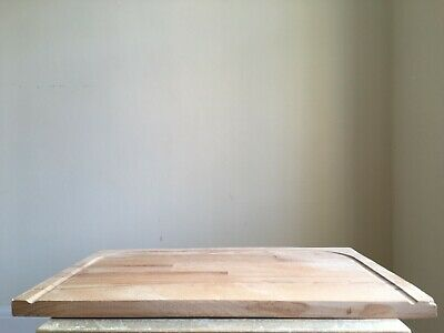 Vintage Large Heavy Sanded Wooden Bread Board Farmhouse Barn Salvage C1980s